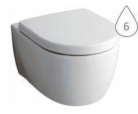 iCon klozet závěsný 53cm Rimfree bez splachovacího kruhu, bílý, 204060000, Keramag