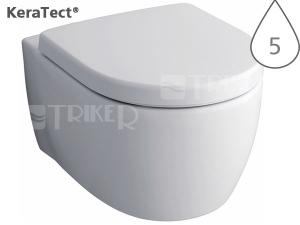 iCon klozet závěsný 53cm s hlubokým splachováním, bílý+KeraTect