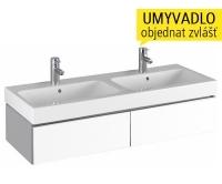 iCon skříňka se 2 zásuvkami pod dvojumyvadlo 120 cm, bílá lesklá (Alpin), 840220000, Keramag