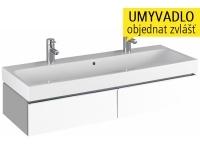 iCon skříňka se 2 zásuvkami pod umyvadlo 120 cm, bílá lesklá (Alpin), 840120, Keramag