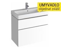iCon skříňka se 2 zásuvkami pod umyvadlo 75 cm, bílá lesklá (Alpin), 840375000, Keramag