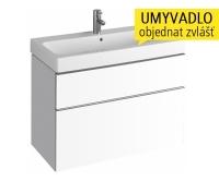 iCon skříňka se 2 zásuvkami pod umyvadlo 90 cm, bílá lesklá (Alpin), 840390000, Keramag