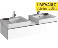 iCon skříňka se 2 zásuvkami pro 2 umyvadla 50 cm, bílá lesklá (Alpin), 840320000, Keramag