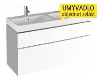 iCon skříňka se 4 zásuvkami pod dvojumyvadlo 120 cm, bílá lesklá (Alpin), 840520000, Keramag