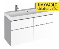 iCon skříňka se 4 zásuvkami pod umyvadlo 120 cm bílá lesklá (Alpin), 840420, Keramag