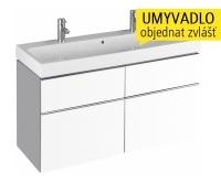 iCon skříňka se 4 zásuvkami pod umyvadlo 120 cm bílá lesklá (Alpin), 840420000, Keramag