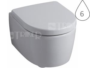 iCon XS klozet závgěsný 49 cm s hlubokým splachováním, bílý
