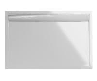 ILA vanička z litého mramoru WIA z hliníkovým krytem 80 x 90 cm, bílá/bílý kryt, WIA800900404, SanSwiss