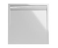 ILA vanička z litého mramoru WIQ s hliníkovým krytem 80 x 80 cm bílá/bílý kryt, WIQ0800404, SanSwiss