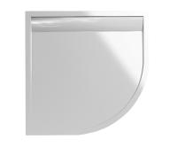 ILA vanička z litého mramoru WIR s hliníkovým krytem 80 x 80 cm R550 bílá/bílý kryt, WIR550800404, SanSwiss