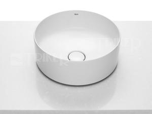 Inspira Round umyvadlová mísa na desku 37 cm, bílá