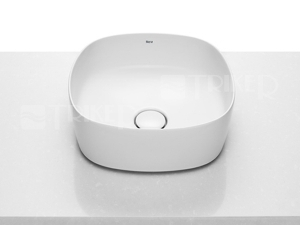 Inspira Soft umyvadlová mísa na desku 37 x 37 cm, bílá