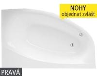Isabella Neo vana akrylátová 170 x 110 cm pravá, bílá, 9710000, Roltechnik