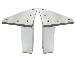 JIKA nohy Lyra Plus pro závěsné skříňky, chrom (2 ks)