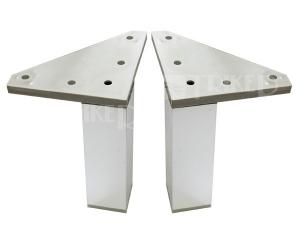 JIKA nohy pro závěsné skříňky, chrom (2 ks)