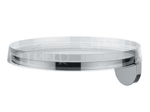Kartell nástěnná polička 18,5x18,5cm disk transparent