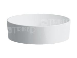 Kartell umyvadlová mísa 42 x 42 cm bez otvoru bílá