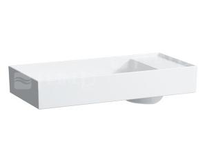 Kartell umyvadlová mísa 75 x 35 cm s otvorem pro baterii pravé bílé