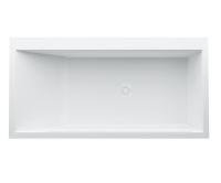 Kartell vana stojící 170 x 86 cm s rámem a panelem pravá bílá, H2233350006161, Laufen
