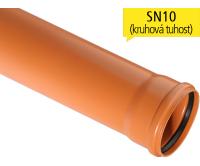 KGEM kanalizační trubka SN10 plnostěnná 110 x 1000 mm, 220110, Osma