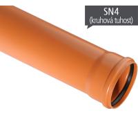 KGEM kanalizační trubka SN4 125 x 3,2 x 1000 mm, 221010, Osma