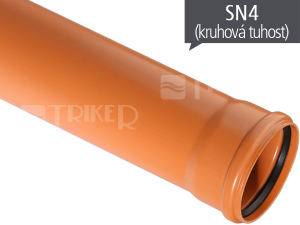 KGEM kanalizační trubka SN4 110 x 3,2 x 5000 mm