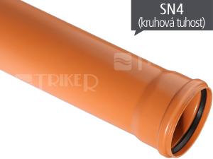 KGEM kanalizační trubka SN4 125 x 3,2 x  500 mm