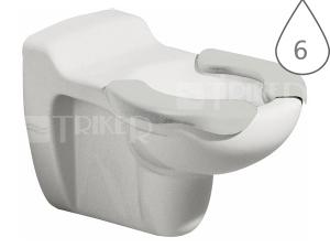 Kind klozet závěsný dětský 53,5 cm se sedací plochou bílý/šedá