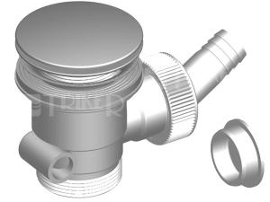 Klik-klak dřezová výpusť s přípojkou T-733DK/II 70 x 6/4