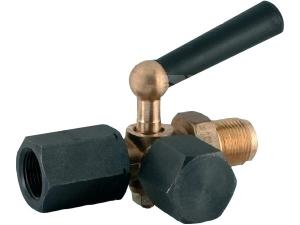 Kohout tlakoměrový trojcestný TK-16263