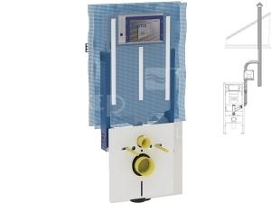 Kombifix pro závěsné WC 109 cm s nádrží Sigma 8 cm s přípojkou pro odsávání zápachu