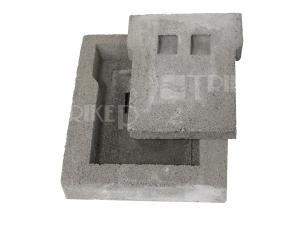 Komínová dvířka betonová dvojitá 220 x 260 mm