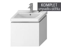 Komplet Cubito-N skříňka s 1 zásuvkou s umyvadlem 55 x 42cm, bílá, TK0J4223015001, Jika
