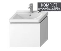 Komplet Cubito-N skříňka s 1 zásuvkou s umyvadlem 60 x 45cm, bílá, TK0J4233015001, Jika