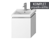 Komplet Cubito-N skříňka s 1 zásuvkou s umývátkem 45 x 34cm, bílá, TK0J4213015001, Jika