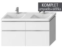 Komplet Cubito-N skříňka s 4 zásuvkami s umyvadlem 130 x, TK0J4274025001, Jika