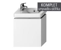 Komplet Cubito skříňka výklopná s umývátkem 45 x 25 cm, otvor vlevo, bílá, TK0J4201005001_L, Jika