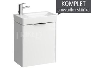 Komplet Laufen Base skříňka s levými dvířky s umývátkem Pro S 48 x 28 cm, bílá/lesk