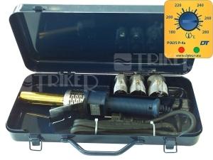 Komplet MINI ECO polyfúzní svářečka Polys P-4a 650W + černé nástavce 20-32 mm