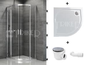 Komplet TOPR sprchový kout čtvrtkruhový