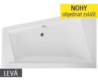 Kubic Asymmetric vana akrylátová 160 x 103 cm levá, bílá, 9660000, Roltechnik