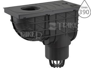 Lapač střešních splavenin AGV1 spodní černý