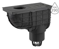 Lapač střešních splavenin AGV1 spodní černý 110 mm, AGV1, Alca plast