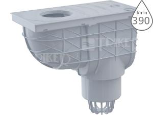 Lapač střešních splavenin AGV1S spodní šedý