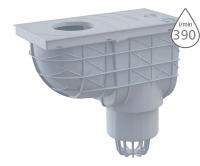 Lapač střešních splavenin AGV1S spodní šedý 110 mm, AGV1S, Alca plast