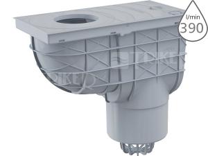 Lapač střešních splavenin AGV2S spodní šedý