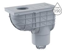 Lapač střešních splavenin AGV2S spodní šedý 125 mm, AGV2S, Alca plast