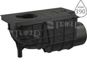 Lapač střešních splavenin AGV3 boční černý