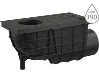 Lapač střešních splavenin AGV3 boční černý 110 mm, AGV3, Alca plast