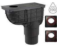 Lapač střešních splavenin AGV4H spodní černý 125/110 mm pro hranaté svody, AGV4H, Alca plast
